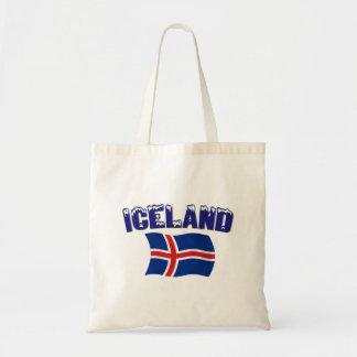 Bandera de Islandia (w/inscription) Bolsa