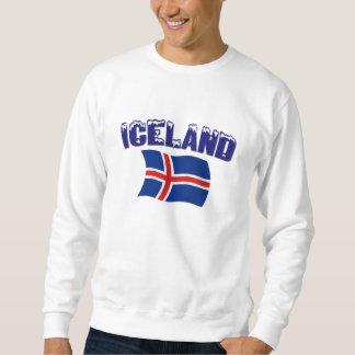 Bandera de Islandia (w/inscription) Pulovers Sudaderas