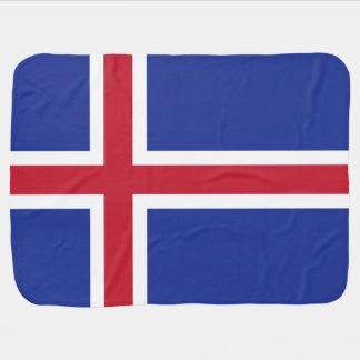 Bandera de Islandia Mantitas Para Bebé
