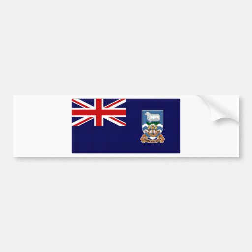Bandera de Islas Malvinas Etiqueta De Parachoque