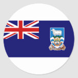 Bandera de Islas Malvinas (Malvinas) FK Pegatina Redonda