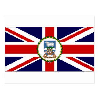 Bandera de Islas Malvinas Tarjeta Postal