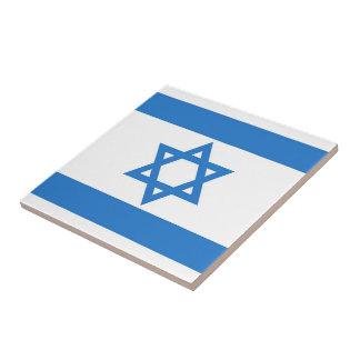 Bandera de Israel Azulejo Cuadrado Pequeño