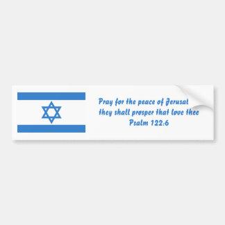 Bandera de Israel, Pegatina Para Auto