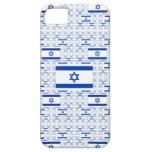 Bandera de Israel - estrella de David - en capas iPhone 5 Protectores