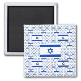 Bandera de Israel - estrella de David - en capas Imán De Frigorifico