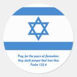 Bandera de Israel, Etiqueta Redonda