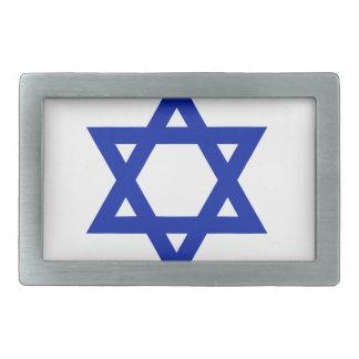 Bandera de Israel Hebilla De Cinturón Rectangular