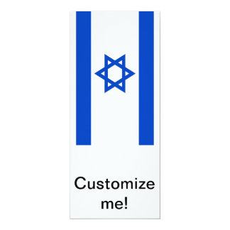 """Bandera de Israel Invitación 4"""" X 9.25"""""""