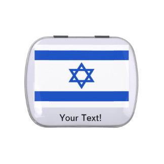 Bandera de Israel Frascos De Dulces