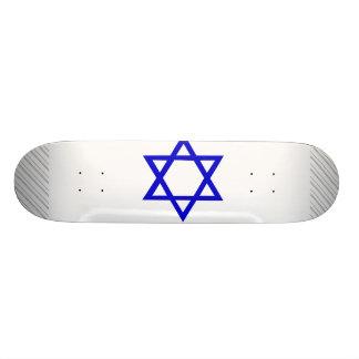 "Bandera de Israel Patineta 7 3/8"""