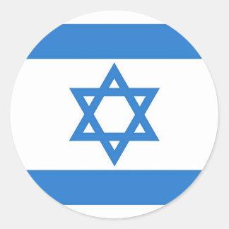 Bandera de Israel Etiqueta Redonda