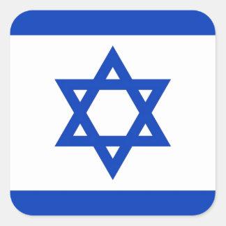 Bandera de Israel Pegatina Cuadrada