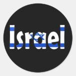 Bandera de Israel Pegatina Redonda
