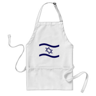 Bandera de Israel que agita Delantal