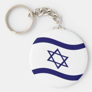 Bandera de Israel que agita Llavero Redondo Tipo Pin