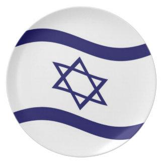 Bandera de Israel que agita Platos