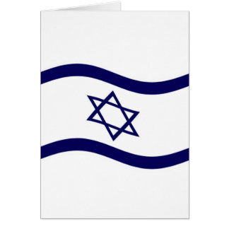 Bandera de Israel que agita Tarjeta De Felicitación