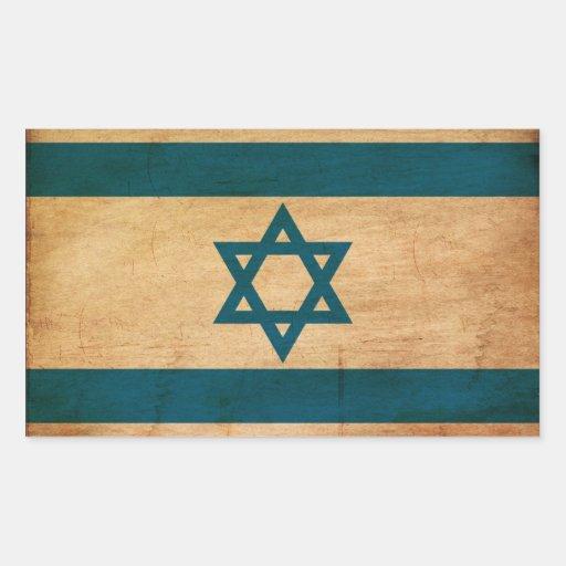 Bandera de Israel Rectangular Pegatina
