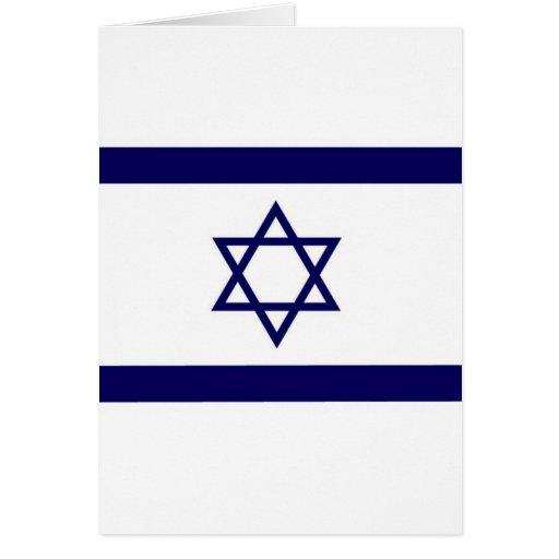 Bandera de Israel Tarjeton