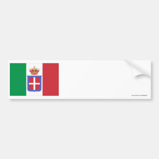 Bandera de Italia (1861-1946) Pegatina De Parachoque