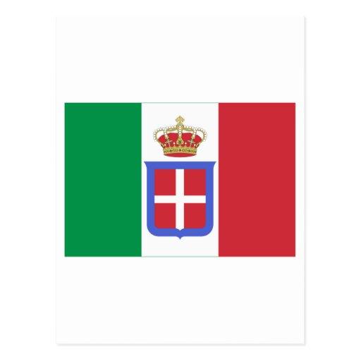 Bandera de Italia (1861-1946) Postales