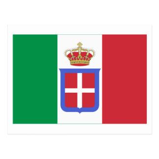 Bandera de Italia (1861-1946) Postal