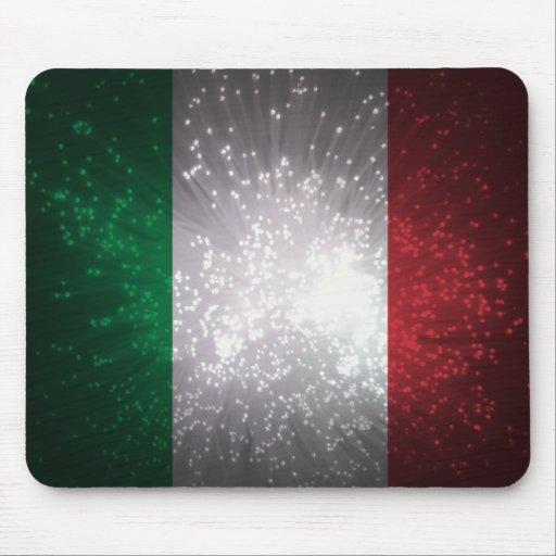 Bandera de Italia Alfombrillas De Raton
