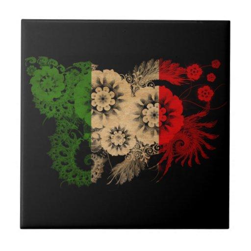 Bandera de Italia Azulejo Cerámica
