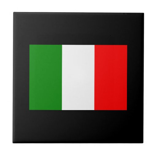 Bandera de Italia Azulejo Cuadrado Pequeño