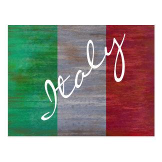 Bandera de Italia - bandera italiana - personalice Postal
