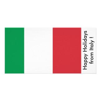 Bandera de Italia, buenas fiestas de Italia Tarjetas Personales