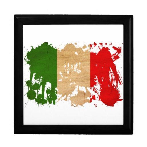 Bandera de Italia Caja De Recuerdo