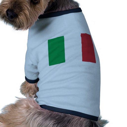 Bandera de Italia Camisetas De Perro