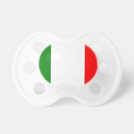 Bandera de Italia Chupete De Bebé