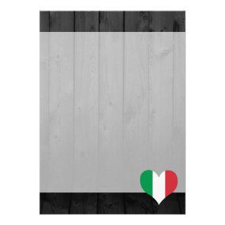 """Bandera de Italia coloreada Invitación 5"""" X 7"""""""