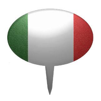Bandera de Italia con efecto metálico Figura Para Tarta