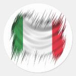 Bandera de Italia de las trituradoras Etiquetas Redondas