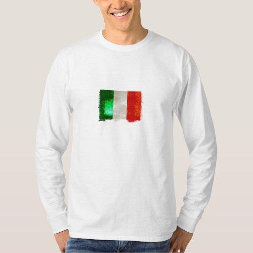 Bandera de Italia del Grunge para los italianos de Playera