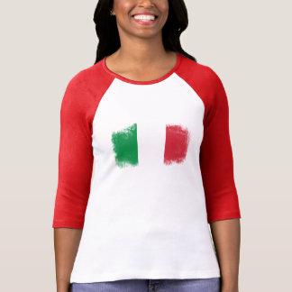 Bandera de Italia del Grunge Playera