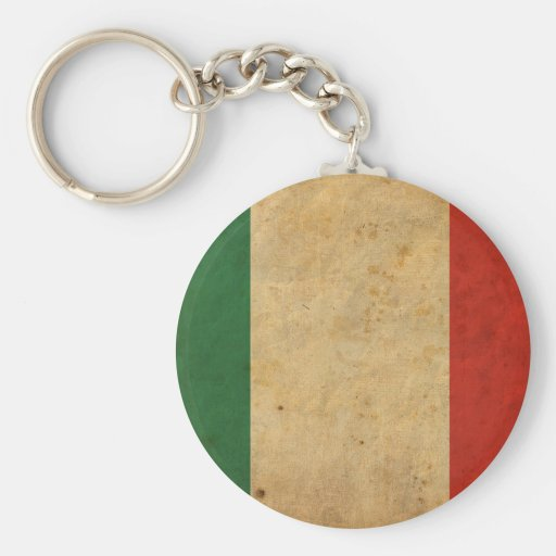 Bandera de Italia del vintage Llavero