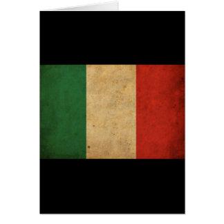 Bandera de Italia del vintage Felicitación
