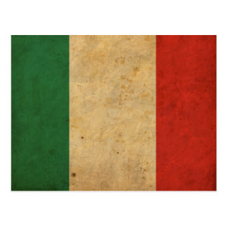Bandera de Italia del vintage Tarjeta Postal