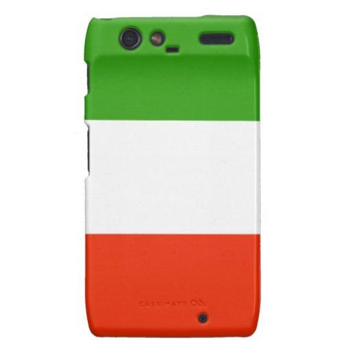 Bandera de Italia Droid RAZR Carcasas