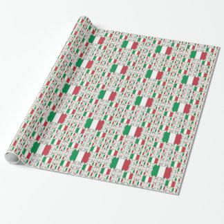 Bandera de Italia en capas coloridas múltiples