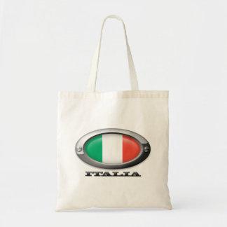 Bandera de Italia en el marco de acero Bolsa Tela Barata