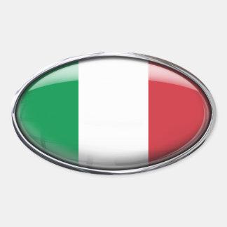 Bandera de Italia en el óvalo de cristal paquete Colcomanias Óval