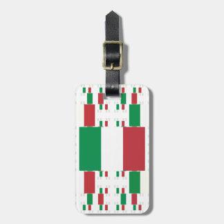 Bandera de Italia en las capas 2 del múltiplo Etiquetas Para Maletas