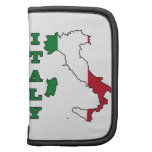 Bandera de Italia en mapa Organizador