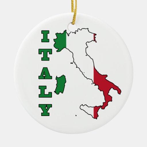 Bandera de Italia en mapa Ornamento De Reyes Magos